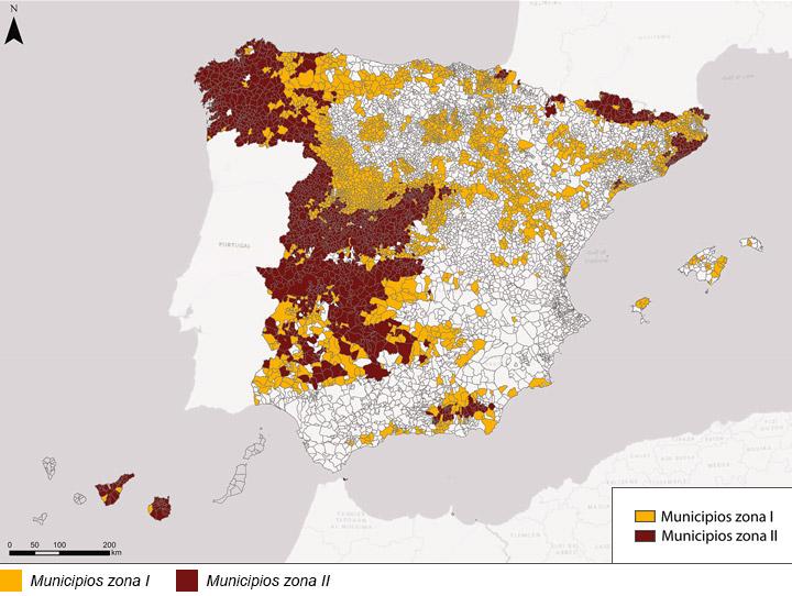 Zonificación por municipio